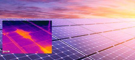 Napalem panelek vizsgálata hőkamerával